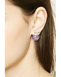 Forever 21   Multicolor Iridescent Star Dual Studs   Lyst