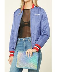 Forever 21 - Blue Studded Holographic Clutch - Lyst