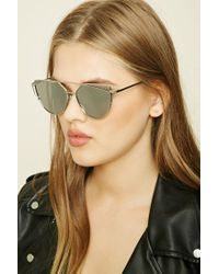 Forever 21 - Metallic Cat Eye Sunglasses - Lyst