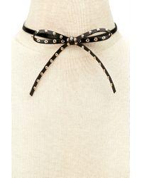 Forever 21 - Black Studded Bow Tie Choker - Lyst