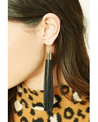 Forever 21 | Multicolor Faux Leather Drop Earrings | Lyst