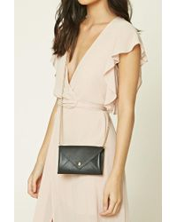 Forever 21 | Black Mini Envelope Crossbody | Lyst