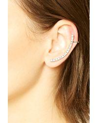 Forever 21 | Metallic Rhinestone Bar Ear Cuffs | Lyst
