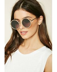 Forever 21 | Gray Metal Round Sunglasses | Lyst