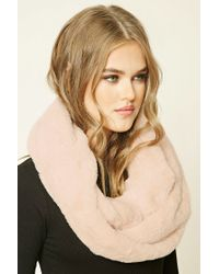Forever 21 | Pink Faux Fur Infinity Scarf | Lyst