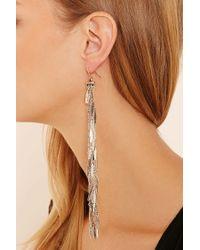 Forever 21 | Metallic Dimpled Fringe Duster Earrings | Lyst
