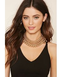 Forever 21 | Metallic Beaded Collar Necklace | Lyst