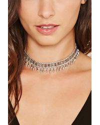 Forever 21 - Metallic Etched Beaded Choker - Lyst