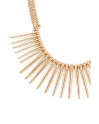 Forever 21 - Metallic Spike Statement Necklace - Lyst
