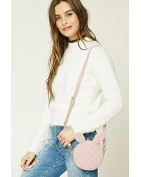 Forever 21 - Pink Quilted Bunny Crossbody - Lyst