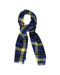 Forever 21 - Blue Check Oblong Scarf - Lyst