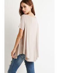 Forever 21 - Natural Classic Trapeze Top - Lyst