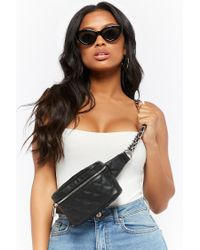 Forever 21 - Black Quilted Bum Bag - Lyst