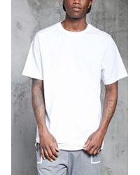 Forever 21 - White Mesh Dual Hem Tee for Men - Lyst