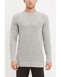 Forever 21 - Gray Textured Loop-knit Sweater for Men - Lyst