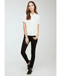 FOREVER21 - Black Clean Wash Skinny Jeans - Lyst