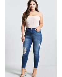 Forever 21 - Multicolor Plus Size Shadow Stripe Top - Lyst