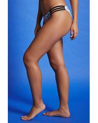 Forever 21 - Blue Geo Pattern Bikini Bottoms - Lyst