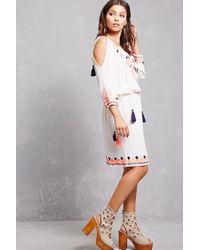 Forever 21 - White Rd & Koko Open-shoulder Dress - Lyst