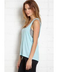 0b0373b015 Forever 21. Women s Blue Active Cutout Back Yoga Tank You ve Been Added To  The Waitlist