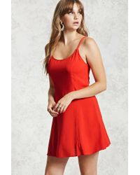 Forever 21 - Red Cami Swing Dress - Lyst