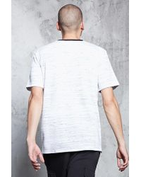 Forever 21 - Gray French Terry Crew Neck Tee for Men - Lyst