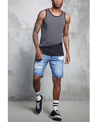 Forever 21 - Gray Colorblock Tank Top for Men - Lyst