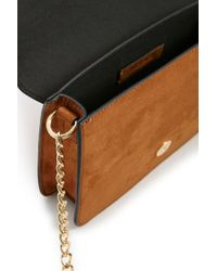 Forever 21 - Brown Faux Suede Crossbody - Lyst
