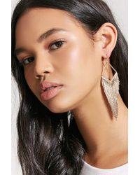Forever 21 - Metallic Chandelier Geo Earrings - Lyst