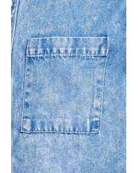 Forever 21 | Blue Washed Denim Shirt for Men | Lyst