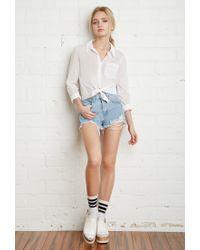 Forever 21 - White Classic Pocket Shirt - Lyst
