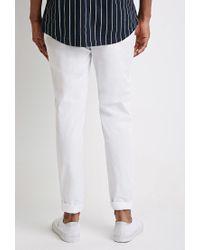 Forever 21 | White Slim Cotton Chinos for Men | Lyst