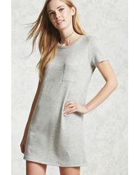 Forever 21 | Gray Heathered Knit Shift Dress | Lyst