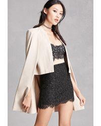 Forever 21 | Multicolor Cotton-blend Cape Coat | Lyst