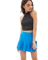 Forever 21 | Blue Scuba Knit Skater Skirt | Lyst