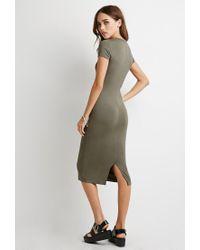 Forever 21 | Green Midi T-shirt Dress | Lyst