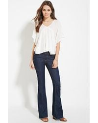 Forever 21 - Natural Contemporary Angel-sleeved Top - Lyst