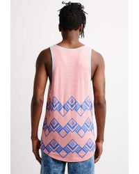 Forever 21 - Pink Abstract Geo Print Tank Top for Men - Lyst