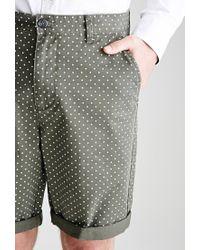 Forever 21 - Green Polka Dot Chino Shorts for Men - Lyst