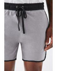 Forever 21 - Gray Satin-trimmed Gym Shorts for Men - Lyst