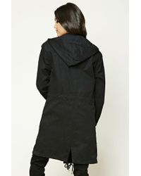 Forever 21 Black Longline Utility Jacket