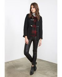 Forever 21 | Black Buckled Funnel Neck Coat | Lyst