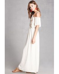 Forever 21 | Multicolor Open-shoulder Maxi Dress | Lyst