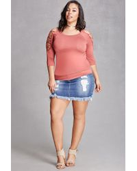 Forever 21 - Purple Plus Size Ladder Cutout Top - Lyst