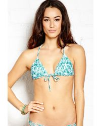 Forever 21 | Blue Glam Girl Triangle Bikini Top | Lyst