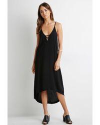 Forever 21 | Black Ladder Cutout Cami Dress | Lyst