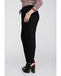 Forever 21 - Black Drawstring Woven Pants - Lyst