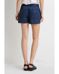 Forever 21 - Blue Contemporary Utility Pocket Shorts - Lyst