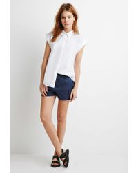 Forever 21 | Blue Contemporary Utility Pocket Shorts | Lyst