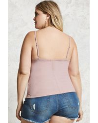 Forever 21 - Purple Plus Size Ribbed Knit Cami - Lyst